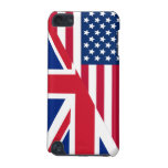 American and Union Jack Flag iPod Touch (5th Generation) Case