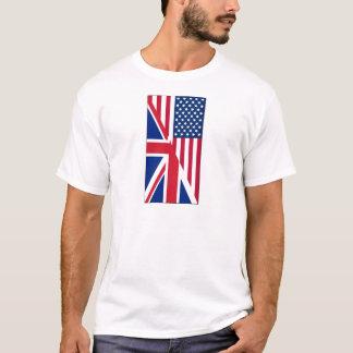 American and Union Jack Flag Men's Basic T-Shirt