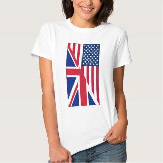 American and Union Jack Flag Shirt