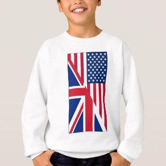 American and Union Jack Flag Sweatshirt