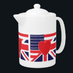 "American and Union Jack Flag Teapot<br><div class=""desc"">American and Union Jack Flag Design</div>"