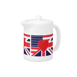 American and Union Jack Flag Teapot
