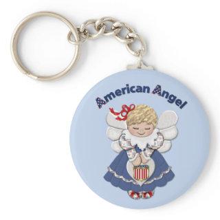 American Angel Keychain
