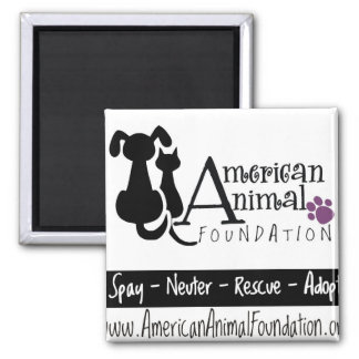 American Animal Foundation 2 Inch Square Magnet