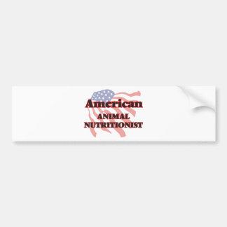 American Animal Nutritionist Car Bumper Sticker