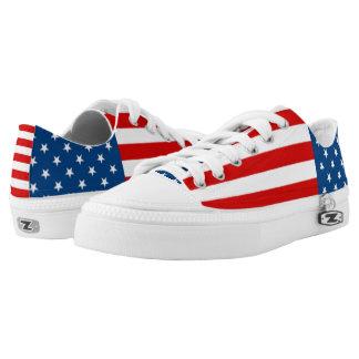 American Anthem Flag Printed Shoes