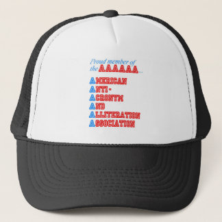 American Anti-Acronym And Alliteration Association Trucker Hat