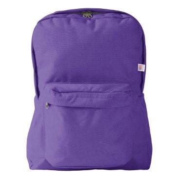 Beach Themed American Apparel™ Backpack, Amethyst American Apparel™ Backpack
