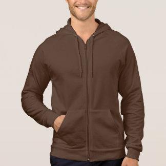 American Apparel California Fleece Zip Hoodie Brow