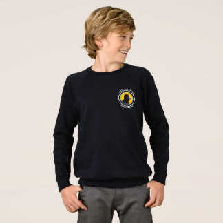 American Apparel Raglan: Math Smart Caveman Sweatshirt
