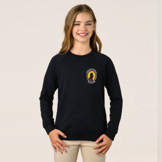 American Apparel Raglan: Math Smart Cavewoman Sweatshirt