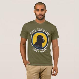 American Apparel T-Shirt: Math Smart Caveman T-Shirt