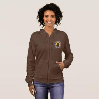 American Apparel Zip: Science Smart Cavewoman Hoodie