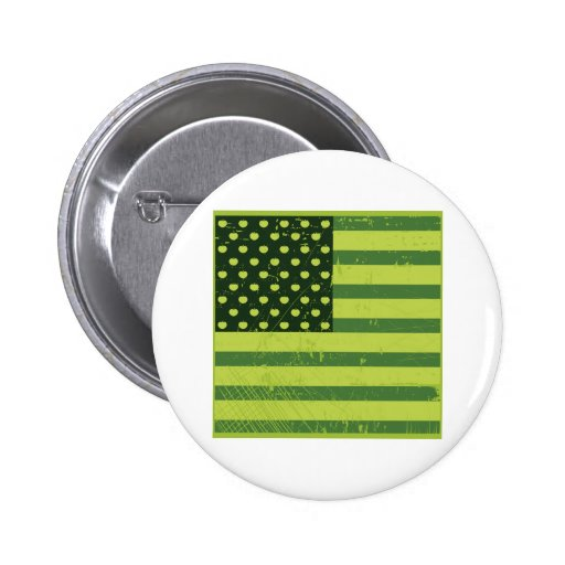 American Apple Flag Buttons