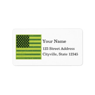 American Apple Flag Label