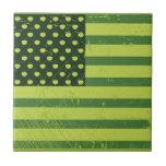 American Apple Flag Tile