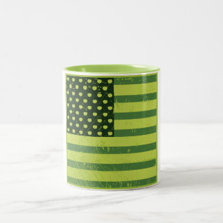 American Apple Flag Two-Tone Coffee Mug