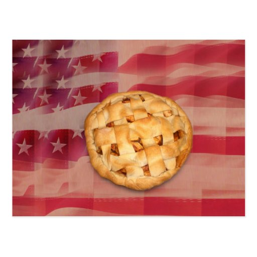American apple Pie Postcard