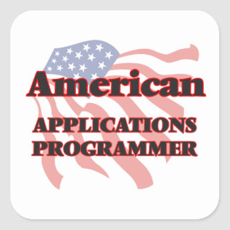 American Applications Programmer Square Sticker