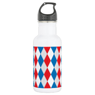American Argyle (Red, White & Blue) Water Bottle