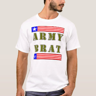 American Army Brat (Olive Text) T-Shirt