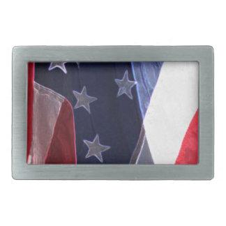 American Art Flag Belt Buckle