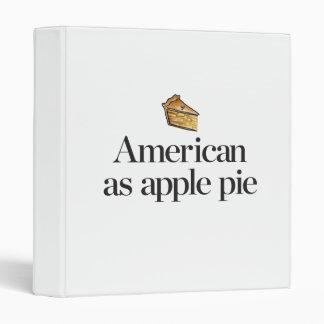 American as Apple Pie Binder