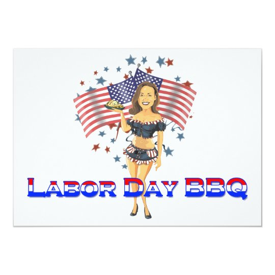 American as Apple Pie Labor Day BBQ Invitations