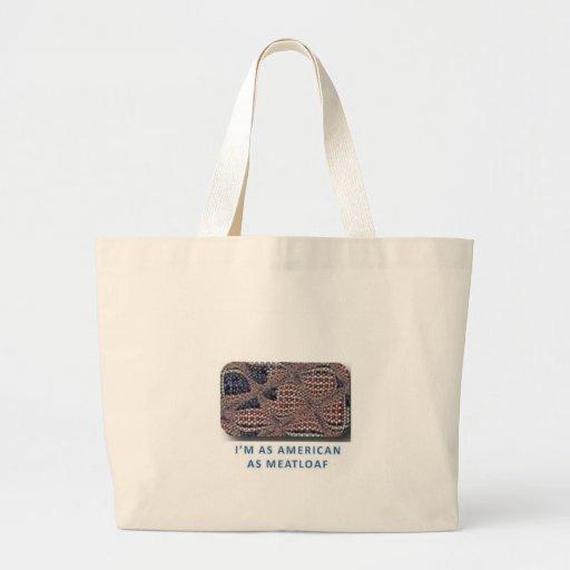 American as Meatloaf Jumbo Tote Bag