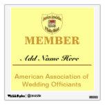 American Association of Wedding Officiants, Wall Graphic