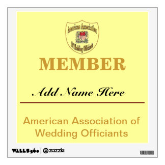 American Association of Wedding Officiants Wall Graphic