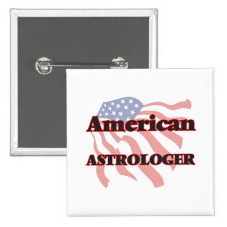 American Astrologer 2 Inch Square Button
