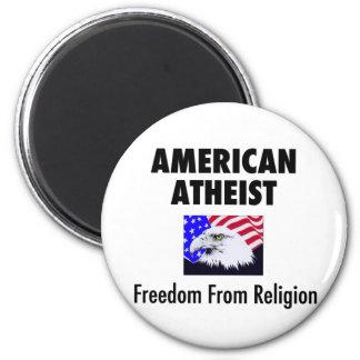 American Atheist 2 Inch Round Magnet