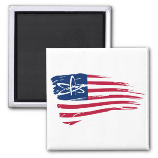 American Atheist 2 Inch Square Magnet