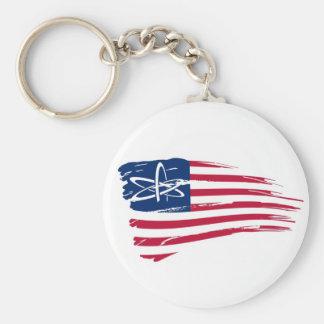 American Atheist Basic Round Button Keychain