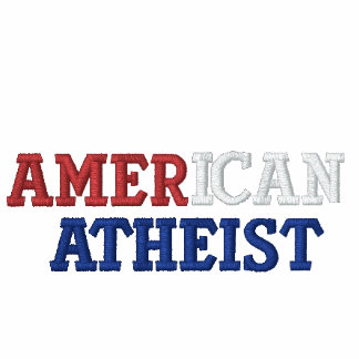 American Atheist Embroidered Hoodie