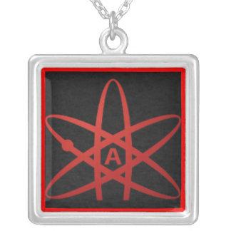 American Atheist Square Pendant Necklace