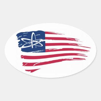 American Atheist Oval Sticker