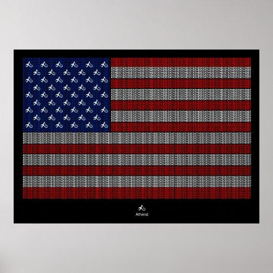 American Atheist USA flag Poster