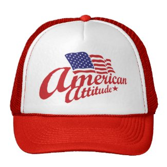 American Attitude Hat Red