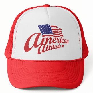 American Attitude Hat Red