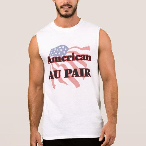 American Au Pair Sleeveless Shirts Tank Tops, Tanktops Shirts