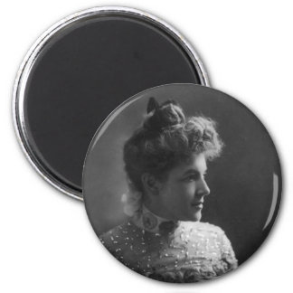 American Author and Poet Ella Wheeler Wilcox 2 Inch Round Magnet