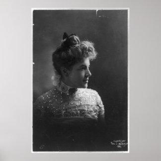 American Author and Poet Ella Wheeler Wilcox Poster