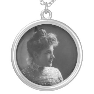 American Author and Poet Ella Wheeler Wilcox Silver Plated Necklace