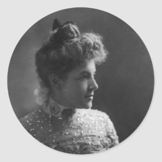 American Author and Poet Ella Wheeler Wilcox Classic Round Sticker