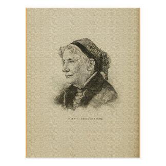 American author Harriet Beecher Stowe drawing Postcard