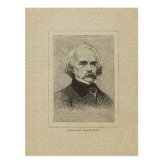 American author Nathaniel Hawthorne drawing Postcard
