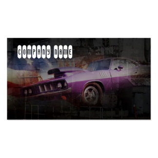 American automotive classic pink muscle car business cards