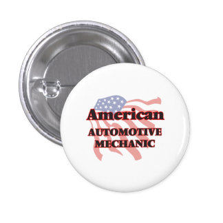 American Automotive Mechanic 1 Inch Round Button